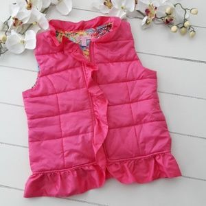 Lilly Pulitzer Girls Ruffle Vest Size XL
